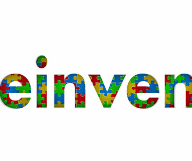 Reinvent Puzzle Pieces Word Redo Restart Innovate 3d Illustratio