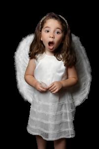 Christmas angel - transparent