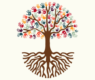 Tree Hand Illustration For Diverse People Team Help